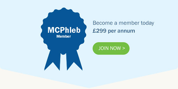 MCPhleb Member - Become a member today £299 per annum. Join now