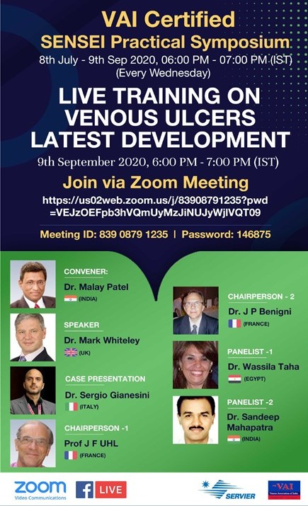 Venous Leg Ulcers - Live Training Webinar - Free Access 9 Sept 2020 - VAI